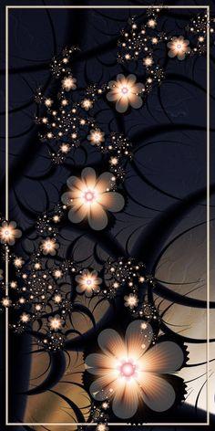 Midnight Dreams by CoffeeToffeeSquirrel on DeviantArt Flowery Wallpaper, Flower Background Wallpaper, Flower Phone Wallpaper, Glitter Wallpaper, Butterfly Wallpaper, Rose Wallpaper, Cute Wallpaper Backgrounds, Cellphone Wallpaper, Colorful Wallpaper