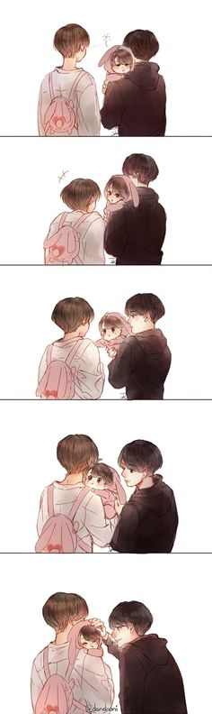 "dandnoni on Twitter: ""Taekook family ❤ #kookv #국뷔 https://t.co/wU3L6ajDqO"""