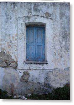 Greek Shutter Window Old Wall Greece by Alexandra Plaster House, Greek House, Old Wall, Painted Doors, Greek Islands, Shutters, Eye Candy, Colours, Windows