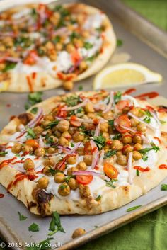 Falafel-Spiced Chickpea Flatbreads