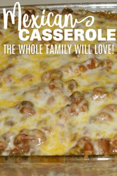 casserole recipes This Easy Mexican Casserole is a hearty dinner recipe that the whole family will love. It is easy to customize for picky eaters and is fast to make on a busy weeknight. Quick Hamburger, Easy Hamburger Casserole, Easy Mexican Casserole, Easy Casserole Recipes, Easy Dinner Recipes, Hamburger Ideas, Hamburger Dishes, Easy Dinners, Easy Dinner Casserole