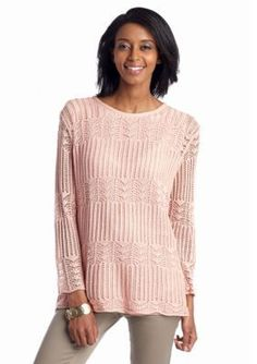 Alfred Dunner  Romancing the Stone Crochet Sweater