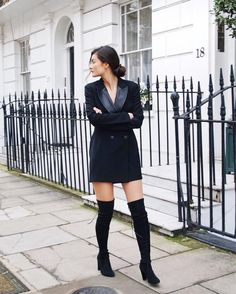 Le Smoking Hot: @peonylim hits a high note on the London streets in the HIGHLAND!! from @stuartweitzmanlove's closet