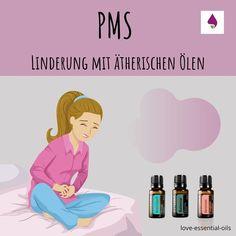 Fast jede Frau kennt dieses Thema. PMS schafft an gewissen Tagen im Monat sowohl körperliche als auch psychische Beeinträchtigungen. Die Ursachen dafür sind noch nicht vollständig erforscht aber eine zentrale Rolle spielen wohl die weiblichen Hormone. Es kommt häufig zu Unterbauchschmerzen, Übelkeit, Kopfschmerzen aber auch Stimmungsschwankungen, Wut, oder Traurigkeit. Pms, Doterra Diffuser, Diffuser Blends, Essential Oils, Monat, Health, Aromatherapy, Doterra Recipes, Aromatherapy Recipes