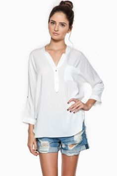 Rae Blouse in White
