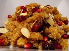 The Small Boston Kitchen: Pomegranate Cranberry Qunioa Salad, Plus 13 Random Pomegranate Facts