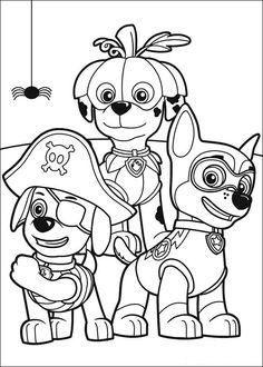 Paw Patrol Tegninger til Farvelægning. Printbare Farvelægning for børn. Tegninger til udskriv og farve nº 3