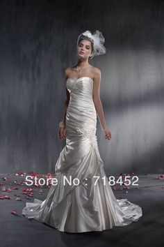 >> Click to Buy << Cheap A Line Wedding Dress Stain Sweetheart Manhand Flower Free Shipping GW832 #Affiliate