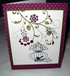 Aviary in Purple by stamphappy1650 - Cards and Paper Crafts at Splitcoaststampers