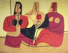 Luis Seoane - Tres Figuras Spanish Painters, Motor Skills, Contemporary Art, Disney Characters, Painting, Contemporary Paintings, Artworks, Abstract, Artists