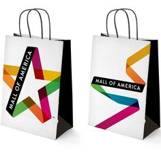 Mall of America / logo redesign / update/ makeover / designed by Duffy & Partners /logo variations / implementation / branding / identity / patterns / shopping bag