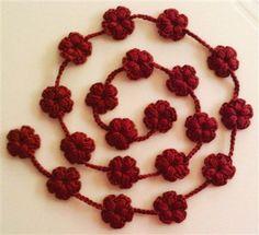 Blossoming Flowers Scarflette, Necklace, Belt, Garland - Crochet Me