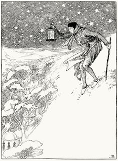 He found himself on one of the countless circular ranges of mountains… Helen Stratton, from The fairy tales of Hans Christian Andersen, Philadelphia, circa 1899. (Source: archive.org)
