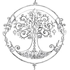 elven tree of life - tattoo idea idk if i like this one or the celtic tree of life better Tattoo Life, I Tattoo, Elven Tattoo, Mandala Tattoo, Tattoo Thigh, Tree Of Life Tattoos, Tattoo Neck, Samoan Tattoo, Tattoo Flash