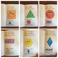Spanish Sunday: Shapes and Kindergarten Math Teaching Shapes, Teaching Math, Teaching Tools, Preschool Learning, Kindergarten Math, Preschool Shapes, Fun Math, Math Activities, Maths
