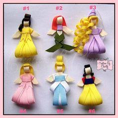 Disney Princess Hair Bow Clips Ribbon Sculpture Girl Accessory - @Katie Tenenbaum