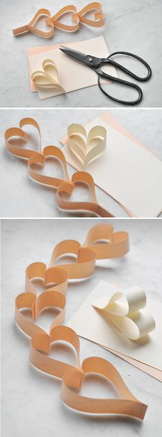 DIY hearts garland