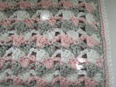Easy Crochet Afghan PatternSideways Shells por KathieSewHappy
