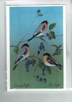 Grüße - Grußkarte - Dompfaffe, handgemalt - ein Designerstück von Vogelmalerin…