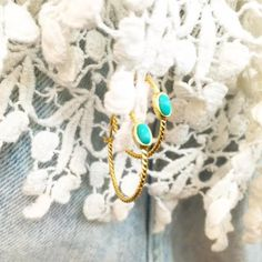 Stay in the hoop with our Oh Oval Gold Earrings.  #summerstyle