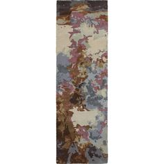 Galaxy Blue Brown Abstract Contemporary Rug