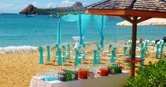 One of our many beach weddings done on a beautiful day at Bay Gardens Beach Resort in Saint Lucia