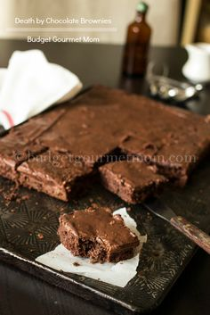 Death by Chocolate Brownie Recipe {www.budgetgourmetmom.com}