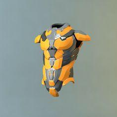 sci-fi armor obj - Sci-fi Armor... by Kama MT