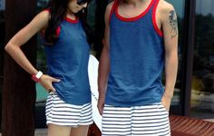 Couple Outfit photography Perfect couple matching outfit for the summer! Perfect couple matching outfit for the summer! Matching Couple Outfits, Matching Couples, Outfits For Teens, Cute Outfits, Matching Disney Shirts, Friend Outfits, Fashion Couple, Personalized T Shirts, Couple Things