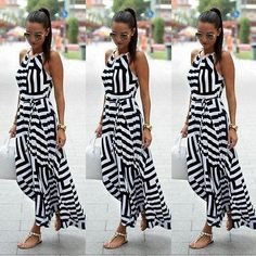 This sold fast the last time we had this in stock now it is back again Women Sexy Summer... Check it out here ! http://mamirsexpress.com/products/women-sexy-summer-dress-boho-maxi-long-party-beach-dress-sundress?utm_campaign=social_autopilot&utm_source=pin&utm_medium=pin