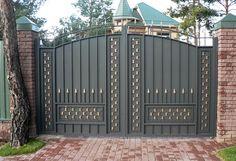 Красивые ворота, дизайн, фото