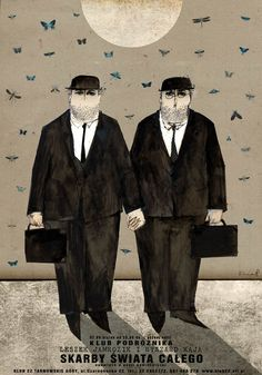 Two Gentelmen Traveling, Polish Poster