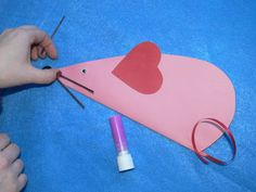 valentine mouse craft | Valentine Mouse - Kids