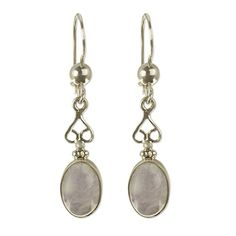 NOVICA Jade 925 Sterling Silver Dangle Earrings Love Poem ** Be sure to check out this awesome product.