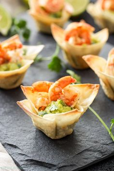 Mini wonton cups filled with guacamole and topped with shrimp are the perfect, easy to make two-bite appetizer! TheseTequila Lime Shrimp Taco Bites are a must make for game day or your next party! Well I thought you needed one more easy appetizer for your Super Bowl party this weekend because you can never have...Read More