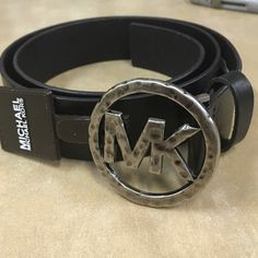 Michael Kors MK Buckle Belt Selling one Michael Kors Hammered MK Logo Buckle Belt. New & Authentic. MICHAEL Michael Kors Accessories Belts