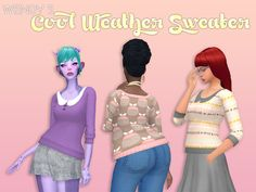 Sims 4 CC's - The Best: Sweater by Deeetron