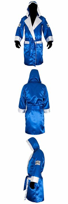 Robes 179773: Cleto Reyes Satin Boxing Robe With Hood - Blue/White -> BUY IT NOW ONLY: $55 on eBay!