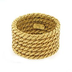 Nontraditional wedding band.  Vintage Tiffany & Co. Rope Band Ring in 18K Gold | Cleo Walker