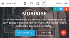 Mobirise v1.3 - Version for Android devices http://mobirise.com/