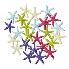 LJY 25piezas 6cm Multicolor Resina lápiz dedo estrella de mar para decoración de boda, decoración del hogar y proyectos de manualidades