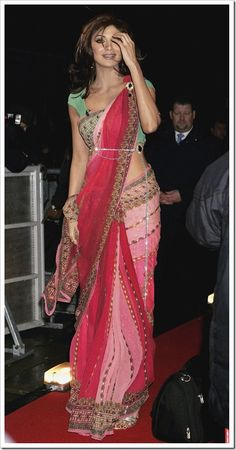 @TheShilpaShetty in Brilliant Saree Ensemble