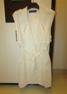 Chiffon Chiffon Double Breasted Sleeveless Trench Coat