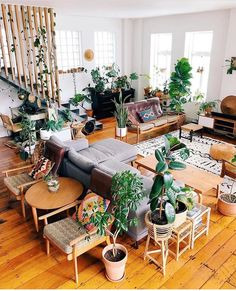 40 Fantastic Bohemian Living Room Decoration Ideas For You Make Inspiration Page 23 of 40 VimDecor Boho Living Room Bohemian Decoration fantastic Ideas Inspiration Living page Room VimDecor Interior Design Living Room, Living Room Designs, Living Spaces, Small Living, Living Area, Modern Living, Living Room With Plants, Living Room Green, Loft Spaces