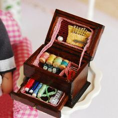 Vintage Sewing Needlework Needle Kit Box Dollhouse Miniature Mini Decor CWY for sale online Dollhouse Toys, Dollhouse Furniture, Dollhouse Miniatures, Barbie Doll Accessories, Dollhouse Accessories, Cheap Dolls, Educational Toys For Kids, Sewing Kit, Miniature Dolls
