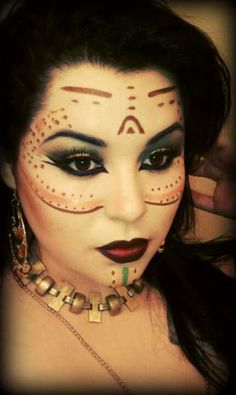 Aztec princess makeup...wow <3
