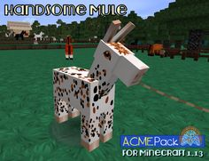 That is a real mule - in the sense of its appearance, anyway. Look it up. Tumbleberry is a horse enthusiast, and thus it's important they look right, not just good. Cool Minecraft, Jasmine, Horse, Packing, Cool Stuff, Outdoor Decor, Design, Bag Packaging