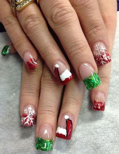 Day 343: Just Be Clause Nail Art - - NAILS Magazine