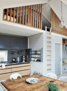 Tiny house trend 6 style lessons for small spaces Tiny House Loft, Tiny House Living, Tiny House Design, Small Space Living, Small Spaces, Loft Spaces, Loft Railing, Small Loft, Loft Room