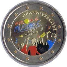 moneda conmemorativa 2 euros Francia 2011. Color